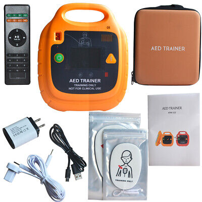 AED Trainer Rechargeable Automatic External AED Simulator Emergency with LCD