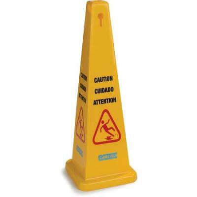 """Carlisle 3694104 Caution Cones And Barriers Caution Cone 36"""" Yellow 3 pack"""