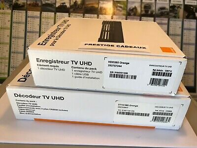 Decodeur Tv Uhd Orange  ( Nouveau Model ! 2019) + Enregistreur Tv Uhd 450 Go