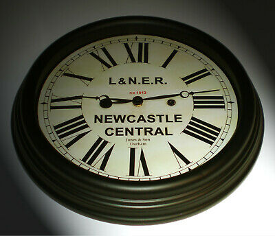 London North Eastern Railway LNER Style Clock, Newcastle Station.