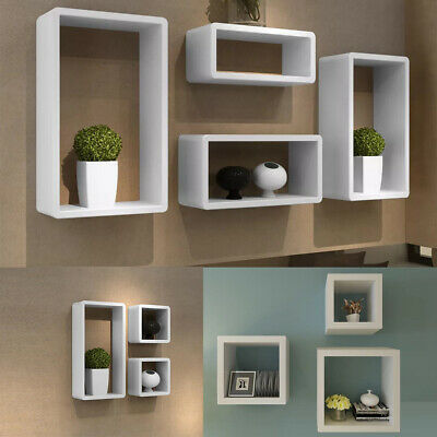 Floating Cube Shelves Set Wall Shelf Hanging Storage Display Unit Bookcase Decor