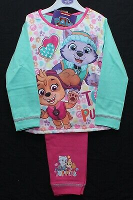 Girls PAW PATROL Pyjamas / SKYE & EVEREST PJs Size 18 - 24 Months or 2-3 Years