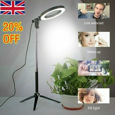 LED Ring Light Studio Photo Video Dimmable Lamp Tripod Stand Selfie Camera Phon