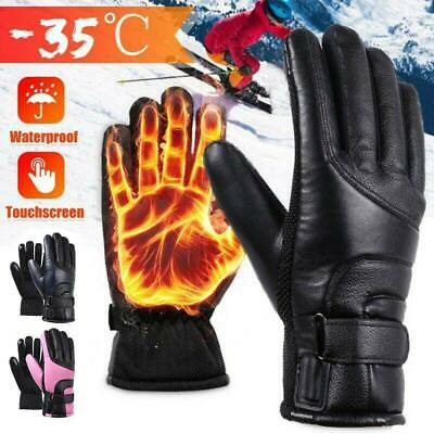 USB Electric Heated Gloves Winter Waterproof Thermal Motorcycle Fishing Skiing