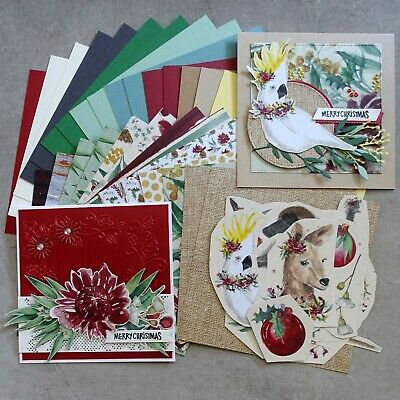 Kaisercraft Christmas Under The Gum Leaves 6X6 Card Paper Pack 30 Shts + More