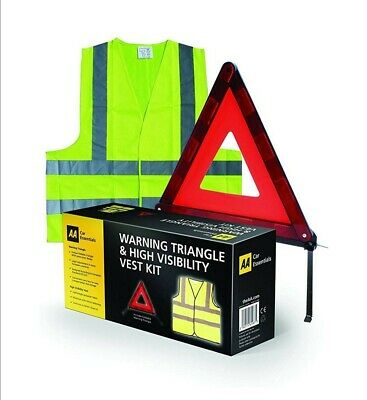 AA Car Essentials High Visibility Vest with Emergency Warning Triangle