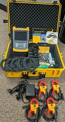 Fluke 434 Power Quality Analyzer Logger Energy Meter, Excellent, Extras