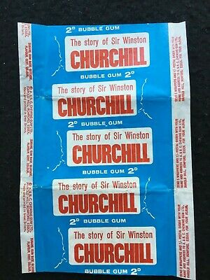 A&Bc The Story Of Sir Winston Churchill Bubble Gum Card Wax Wrapper Excellent+