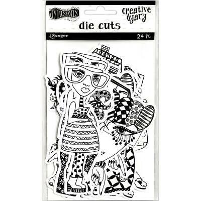Dylusions Creative Dy-Cuts - All the Gals - 24 Die Cut Pieces