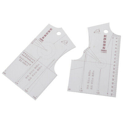 2pcs/set 1:5 Women Clothes Prototype Ruler Drawing Template Tailor Sewing Too EO