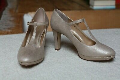 Party Hochfront Pumps Dunkelbraun Glitzer Look NEU Graceland