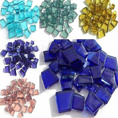 Transparent Glass Puzzles Mosaic tiles for arts and crafts - Various Colours