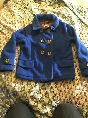 Next Girls Blue Fleece Jacket Coat Age 7
