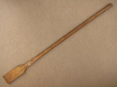 Old Antique Primitive Wooden Wood Spoon Kitchen Paddle Spatula Big Rustic 20th.