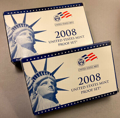 2008 US Mint Clad Proof Set (14 Coins) Kennedy, Presidential, Quarters