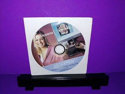 Husqvarna Viking 3D Sketch-3D Emroidery System Version 7.25 PC CD ROM Only B455