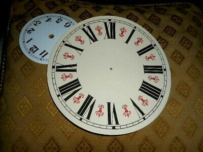 "Round Vienna Style Paper (Card) Clock Dial- 6 1/4"" M/T-GLOSS CREAM-Parts/Spares"