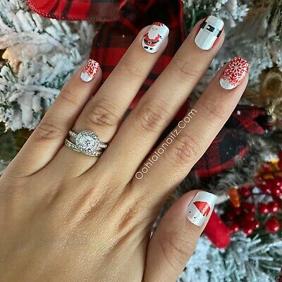 color street nail polish strips Father Christmas
