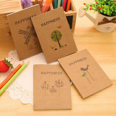 Notebook Journal Diary Memo Notepad Blank Page Painting Hardcover ONE