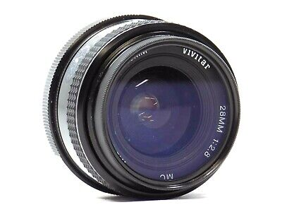 Vintage Vivitar 28mm 1:2.8 Auto Wide-Angle Lens for Pentax Works