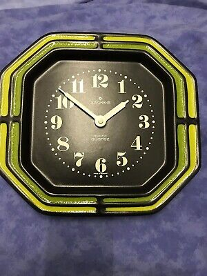 New Old Stock 70's kitchen clock wall