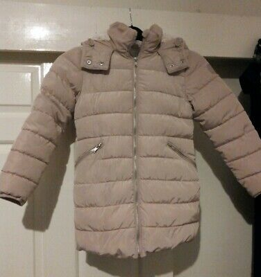 Next Girls Pink coat Age 9 yrs Hooded winter Coat.