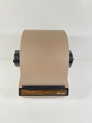 Rolodex Metal Tan Model 5350 Rotary Card File Vintage No Key