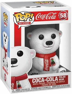 Funko Pop! Ad Icons: Coca-Cola - Coca-Cola Polar Bear 58 Vinyl Coke In Stock