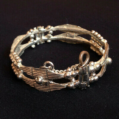 Ancient Bracelet Antique Old Handmade Color Silver Vintage Extremely Stunning