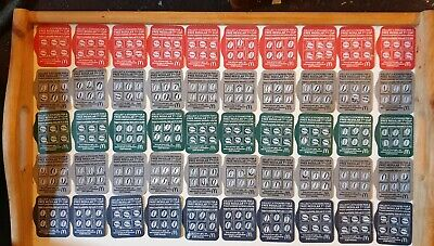 McDonalds Coffee 300 Loyalty White Stickers on Cards 50 CUPS ALL Valid 31/12/20