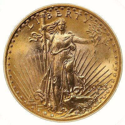 1923-D St Gaudens $20 PCGS Certified MS65 Old Green Label Holder US Gold Coin