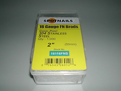 "Spotnails 16116fns 2"" 20 Degree Stainless Steel Finish Nails (8,000)"
