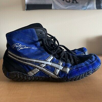 BLUE ASICS RULON Wrestling Shoes RARE Size 10 (Freek, Kolat