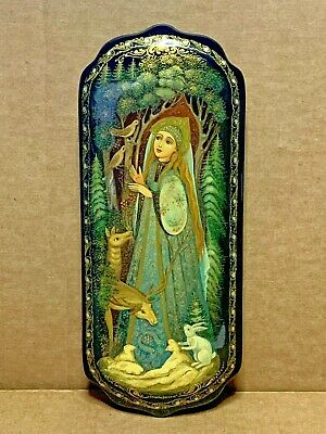 Russian Vintage Lacquer Jewelry Box Tale Of The Snow Maiden Snegurochka Palekh