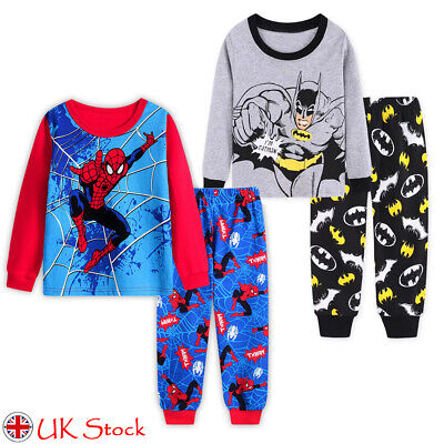 Children Kids Boys Girls Pyjamas Superhero Sleepwear Nightwear Pajamas Pjs Set