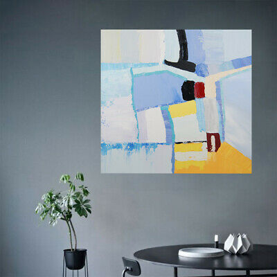 Modern Abstract Hand Painted Stretched Canvas Oil Painting Wall Art Framed