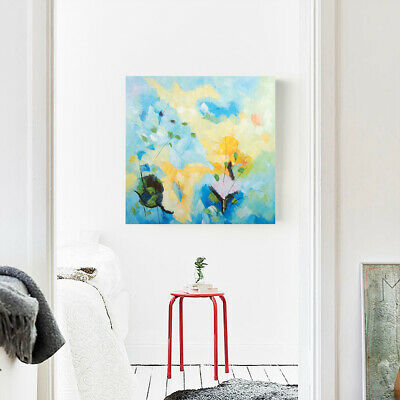 Modern Abstract Hand Draw Art Canvas Oil Painting Home Decor : Flowers (Framed)
