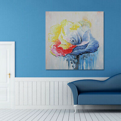 100% Hand-Painted Abstract Home Decor Canvas Art Wall Oil Painting Framed Flower