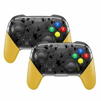 2x Wireless Bluetooth Pro Controller Gamepad remote Pikachu for Switch