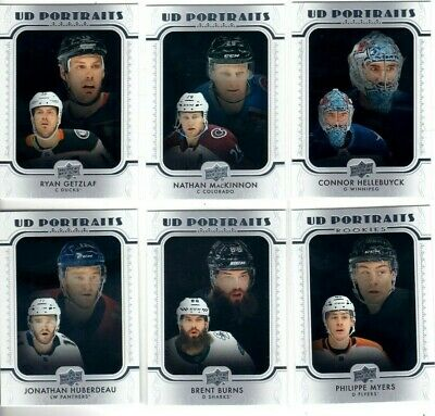 2019-20Upper Deck Portraits Pick you singles lot 2 for$1 ea. flat rate shipping