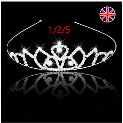 Kids Girls Child Wedding Prom Crystal Rhinestones Tiara Princess Crown Headband