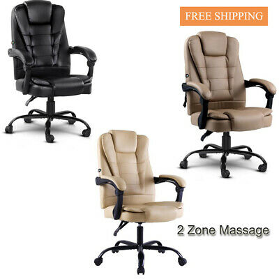 Artiss 2 Zone Massage Office Chair Gaming Chair Recliner Computer Swivel Chairs