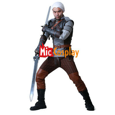 The Witcher 3:Wild Hunt Geralt of Rivia Costume Cosplay Gwynbleidd Brokilon Suit