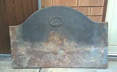 Antique Cast Iron Goulburn Foundry Fire Back Plate - Vintage Fireplace Wood  #2