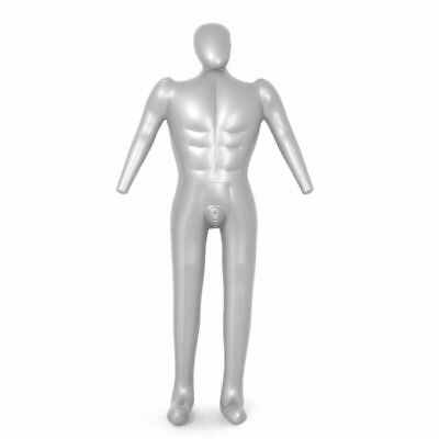 Fashion Male Whole Body Inflatable Mannequin Dummy Torso Model Clothes Display