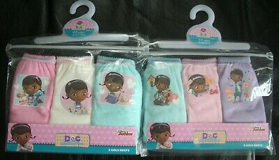 Girls DOC McSTUFFINS 100% Cotton Briefs/Knickers x 6 Pairs - Size 2-3 Years
