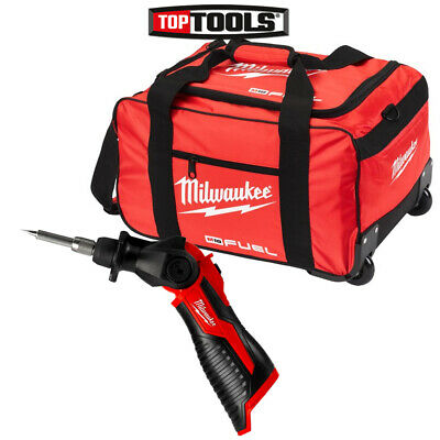 Milwaukee M12SI 12V Cordless Soldering Iron With 19 inch Wheel Bag