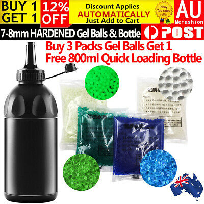 7-8MM Gel Balls HARDENED Ammo Milky Glow in the Dark Bullet Bottle Gel Blaster