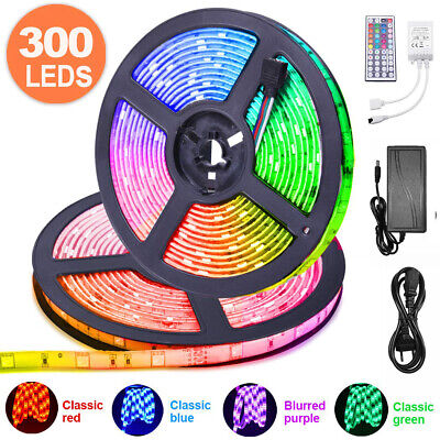 5M-10M 5050 RGB 30/60 LEDs Strip Lights Colour Changing Flexible Tape Lighting