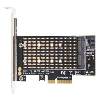PCIe X4 to NGFF M.2 NVME PCIe M Key SATA B Key 2230 to 2280 SSD Adapter  FH